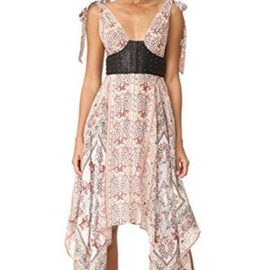 You for Me Free People Leather and floral Dress